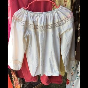 Tops - White vintage Spanish blouse